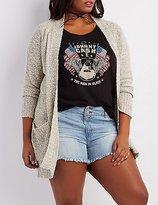 Charlotte Russe Plus Size Nubby Longline Cardigan