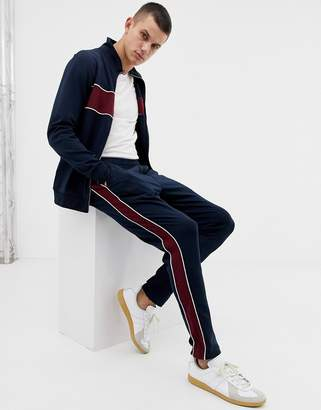 Selected tracksuit joggers in slim fit-Navy