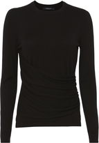 Derek Lam Gathered Front Silk-Cashmere Top