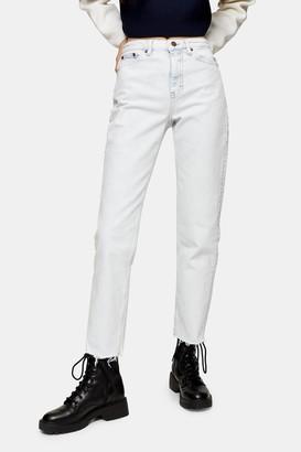 Topshop Womens Considered Super Bleach Straight Jeans - Bleach Stone