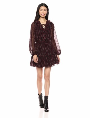 The Fifth Label Women's Titania Ruffle Lace-Up Blouson Short Dress