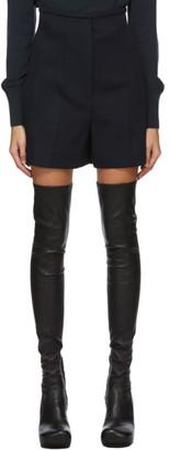 Sportmax Navy Wool Patio Shorts
