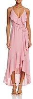WAYF Brandi Ruffled Maxi Wrap Dress