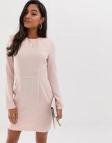 Asos Design DESIGN shoulder pad mini dress with seams