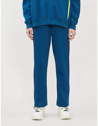 Puma X ADER ERROR Side-stripe cotton-blend piqué jogging bottoms