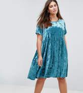 Alice & You Smock Dress In Crushed Velvet