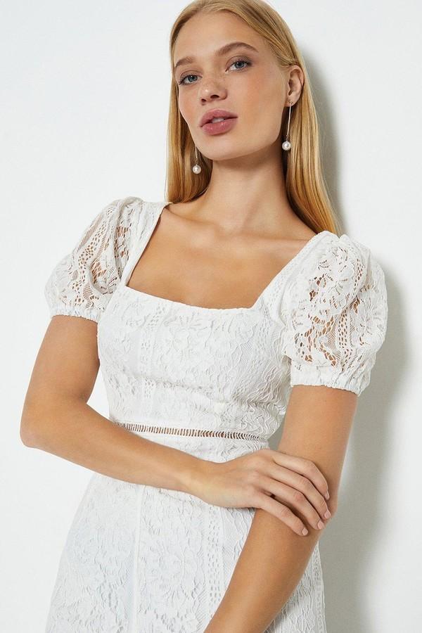 Coast Lace Square Neck Dress