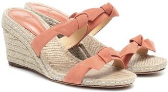 Alexandre Birman Clarita suede wedge espadrille sandals