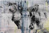 Parvez Taj Facing Horses Canvas Wall Art