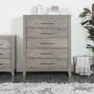 Child Craft 5 Drawer Chest Color: Crescent Gray