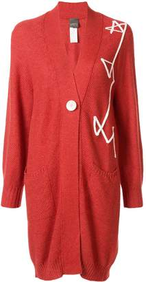 Lorena Antoniazzi embroidered oversized cardigan