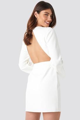 NA-KD Linn Ahlborg X Open Back Mini Dress White