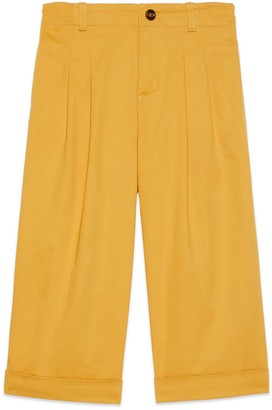 Gucci Children's cotton trousers with patch