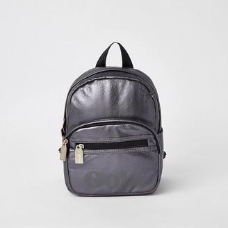 River Island Kids metallic purple Gola backpack