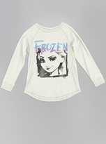 Junk Food Clothing Girls Frozen Graphic Long Sleeve Tee-ivory-l