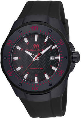Technomarine Techno Marine Mens Black Stainless Steel Strap Watch-Tm-215088 Family