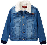 7 For All Mankind Faux Shearling Lined Denim Jacket (Toddler Boys)