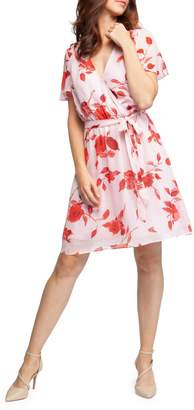 Dex Floral-Print Wrap Dress
