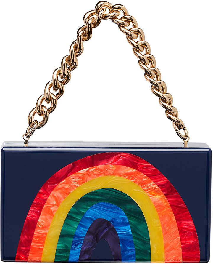 Edie Parker Jean Rainbow Hard Clutch Bag