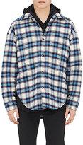 Balenciaga Men's Plaid Cotton Flannel Shirt Jacket