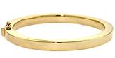 Ice 14K Gold Hinged Bangle Bracelet