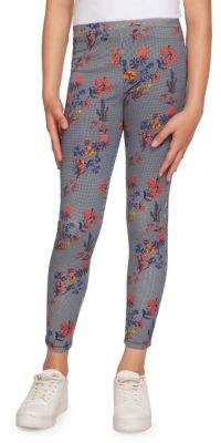 Dex Girl's Floral-Print Leggings