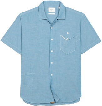 Billy Reid Scout Short Sleeve Chambray Button-Up Camp Shirt
