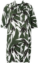 Marni printed ruffle trim dress - women - Viscose - 40