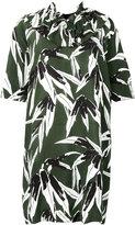 Marni printed ruffle trim dress - women - Viscose - 44