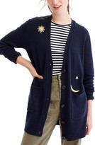J.Crew Women's Cosmic Embroidered Cardigan Sweater
