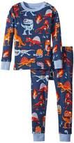 Hatley Volcanos Dinos Long Sleeve Pajama Set Boy's Pajama Sets