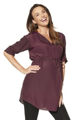 Liz Lange for Target® Maternity Elbow-Rolled Sleeve Top - Assorted Colors