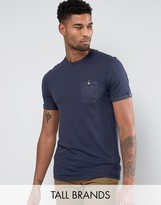 Ted Baker TALL T-Shirt in Slub with Pocket