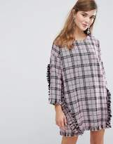Sister Jane Oversized Dress With Ruffles In Tweed