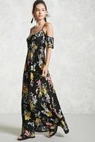 Forever 21 FOREVER 21+ Open-Shoulder Floral Maxi Dress