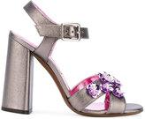 L'Autre Chose embellished sandals - women - Leather/other fibers - 35