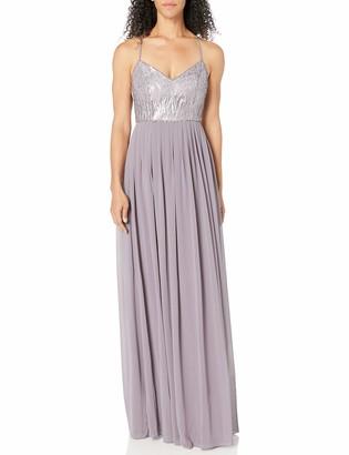 Donna Morgan Women's Coco Beaded Chiffon Gown