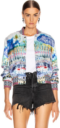 Amiri Tie Dye Wrap Bomber in Multi Color | FWRD