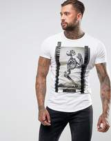 Religion T-Shirt With Praying Skull Print