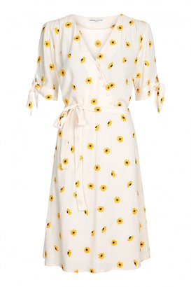 Fabienne Chapot - Emily Embro Dress in Off White Sunflower - viscose | large