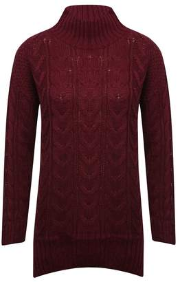 M&Co Cable knit tunic jumper