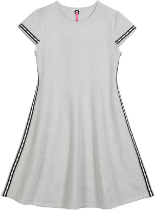 Pink Thread Girl's Metallic Trim Sleeve Knit Dress, 4-16