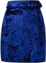 MSGM crushed velvet skirt