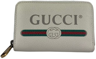 Gucci White Leather Wallets