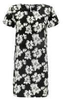 Select Fashion Fashion Womens Grey Floral Print Tunic Dress - size 10