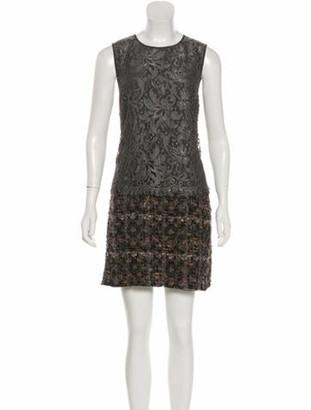 Dolce & Gabbana Lace Mini Dress Grey