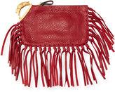 Valentino Zodiac Fringe Leather Clutch Bag, Crimson Taurus