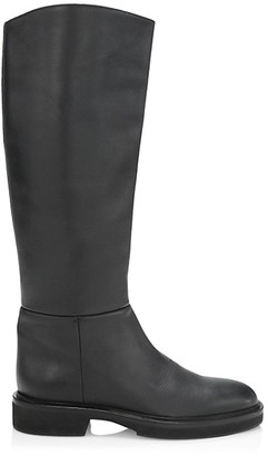 KHAITE Derby Knee-High Leather Riding Boots