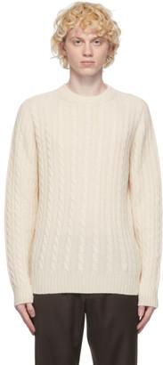 Brioni Off-White Cashmere Cable Knit Sweater