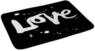 "Deny Designs Kal Barteski Love Black Memory Foam Bath Mat, 17""x24"""